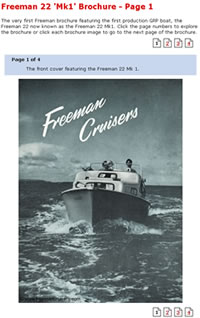 Viewing a Freeman Cruiser brochure.