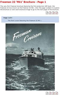 Viewing a Freeman Cruiser brochure.
