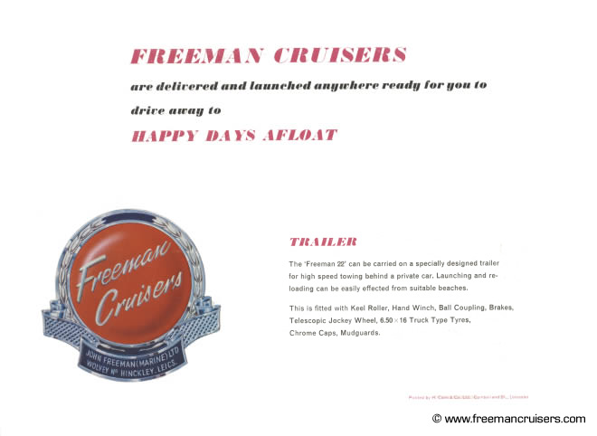 The back cover of the Freeman 22 & 26 brochure.