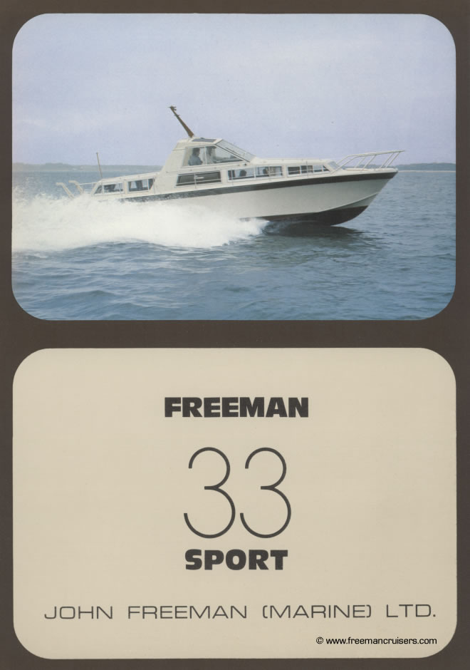The front cover featuring the Freeman 33 Sport at sea.